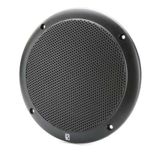 Poly-Planar 4-Inch Round Flush-Mount Marine Speakers (Pair)