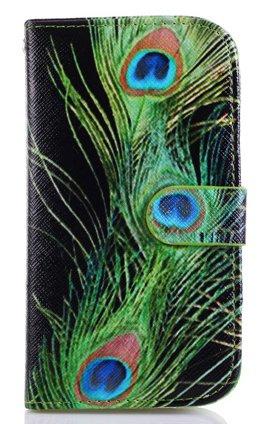 Ezydigital PU leather Wallet Case Card Holder Flip Case Cover for Samsung Galaxy S4 9500