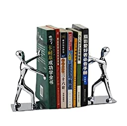 Himine Mini Stainless Kung Fu Man Fashion Creative Bookends*1 Pair (Style1)