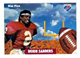 Deion Sanders football card (Florida State Seminoles) 1991 Star Pics #80 at Amazon.com