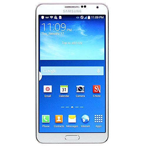 Samsung Galaxy Note 3 N900V 32GB Unlocked GSM Smartphone - White (Certified Refurbished)