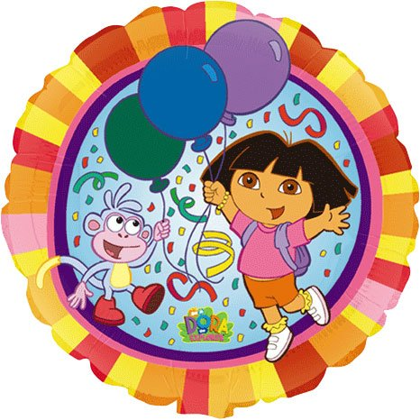 Mayflower Distributing Mens Dora the Explorer Foil Balloon Light Blue Medium