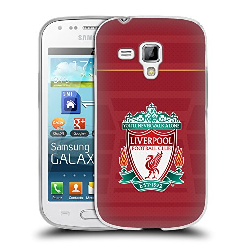 Official Liverpool Football Club Crest Home Shirt Kit 2016/17 Soft Gel Case for Samsung Galaxy S Duos S7562 (Chs Duo compare prices)