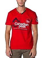 CANADIAN PEAK Camiseta Manga Corta Jommando (Rojo)