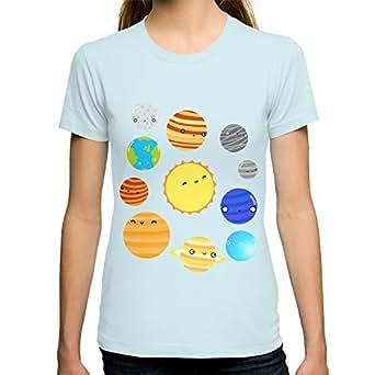 Amazon.com: Society6 Women's The Solar System T-Shirt X ...