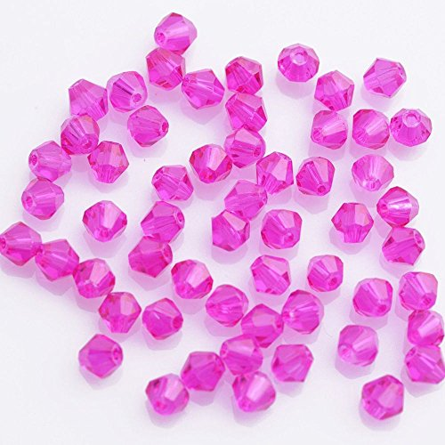 Smilestyle 50Pc Top Quality Light Fushcia Czech Crystal Faceted Bicone Beads 6mm Jewelry Making (Rhodolite Crystal compare prices)