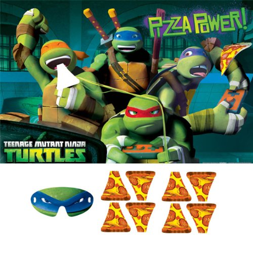 Teenage Mutant Ninja Turtles Party Game, Feed The Pizza to Mikey, Multicolored - 1