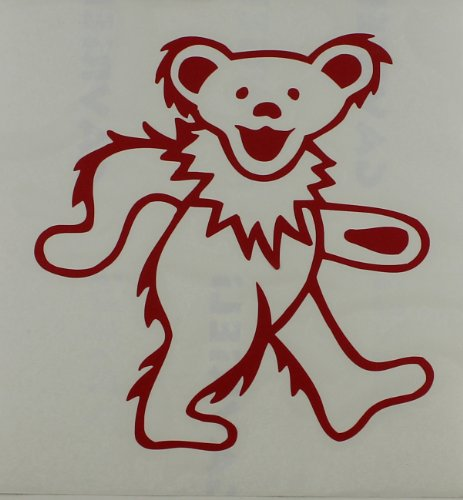 Licenses Products Grateful Dead - Dancing Bear Rub-On Sticker, Red - 1