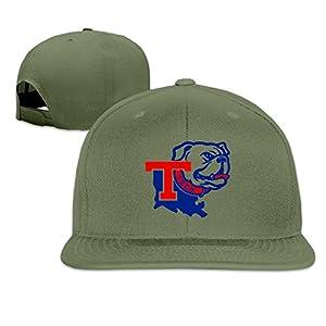 ElishaJ Flat Bill Louisiana Tech University Trucker Caps Hat ForestGreen