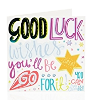 Bright Letters Good Luck Greetings Card