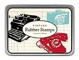 Cavallini 3 Assorted Wooden Rubber Stamps Sets, Vintage