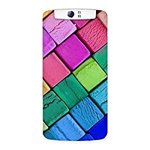 Block Colors Print Back Case Cover for Oppo N1