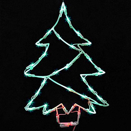 Northlight Seasonal Lighted LED Christmas Tree Window Silhouette Decoration, 18