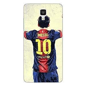 Jugaaduu Barcelona Messi Back Cover Case For Xiaomi Mi4