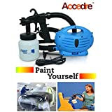 Accedre Paint Zoom Spray Gun With Motor And Paint Bottle (1.00)