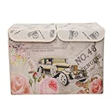 UberLyfe Vintage Car Magic Storage Box - Double Flap - Large (KSB-000670-DFVNCAR)