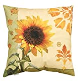 Sunflower Indoor/Outdoor Weather Resistant Fabric Pillows (Set of two 20 inch)
