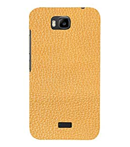 PrintVisa Tan Leather Design 3D Hard Polycarbonate Designer Back Case Cover for Huawei Honor Bee