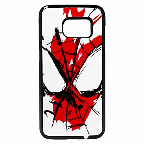 Spiderman Splatter Case / Color Black Plastic / Device Samsung Galaxy S7 Edge