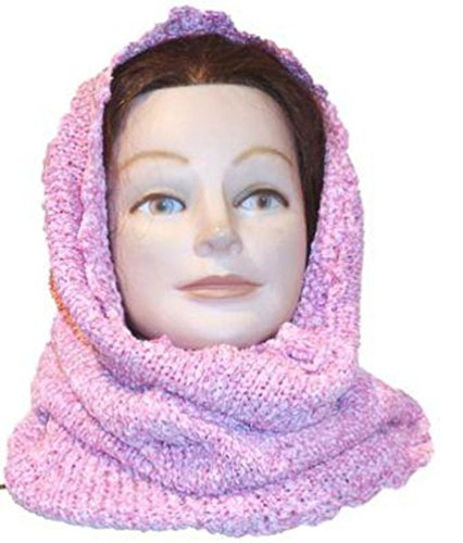 Knitted Crochet Finished Two Ply Space Dye Chenille Balaclava Neck Warmer (Corky Devil compare prices)