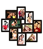 Trendzy Decor Black Wood Matte Finish 10-in-1 Wall Photo Frame Collage