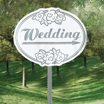 Cardboard Wedding Yard Sign