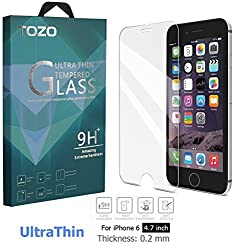 iPhone 6s / 6 Screen Protector Glass, TOZO 0.2mm Ultrathin [3D Touch Compatible] Corning Gorilla Premium Tempered Glass with 9H Hardness 2.5D Edge Super Clear Screen [Lifetime Warranty] 0.2mm