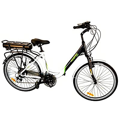 Fenetic Fusion deluxe step through Electric bike with Samsung battery, suspension and 18 gears