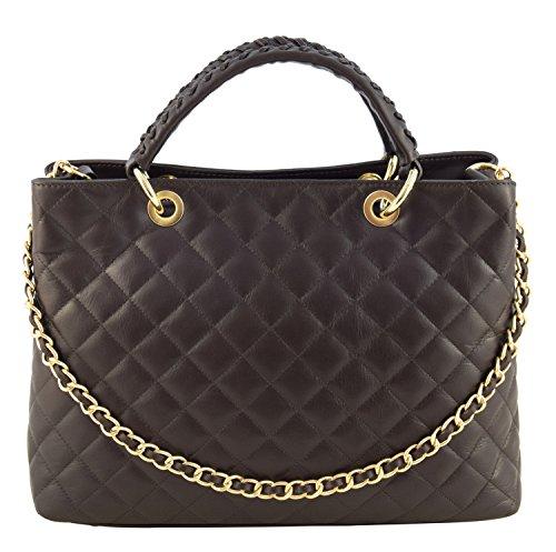 d74dcbd096 CHIC Sacs Femme Shopper Portés Main Vrai Cuir Fabriqué en Italie Qualité