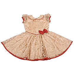 Unnati Golden Lace Frock (6-12Months)