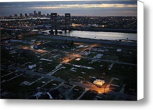 Fema Trailers In The Ninth Ward Canvas Print / Canvas Art - Artist Tyrone Turner