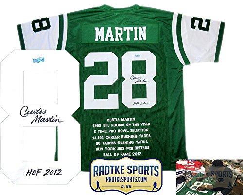 Curtis Martin Jets Memorabilia, Jets Curtis Martin Memorabilia