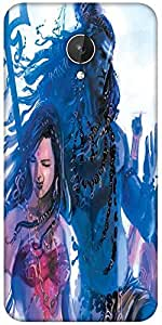 Snoogg Kali Goddess Shiva 2874 Designer Protective Back Case Cover For Micromax Canvas Spark Q380