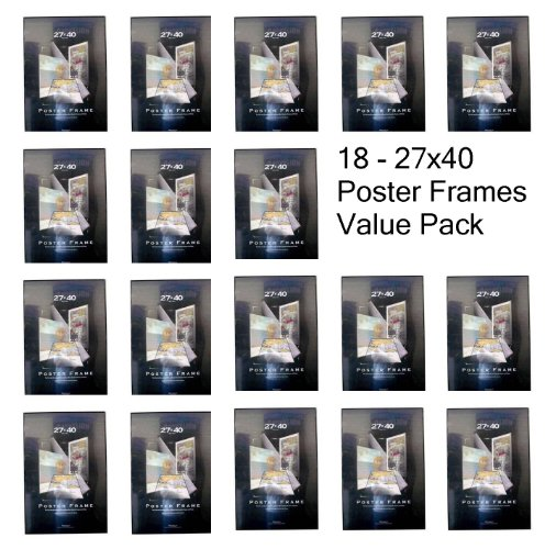 18 Movie Poster Frames 27x40 Thin Profile Solid Back Multi ...