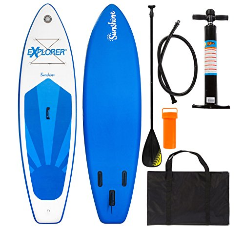 EXPLORER SUP 305x81x12cm SUNSHINE inflatable Stand Up Paddleset +Paddel+Pumpe+Tragetasche iSUP aufblasbar Board Paddle Surfboard surfen