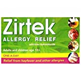 Zirtek allergy tablets 10mg 30 pack