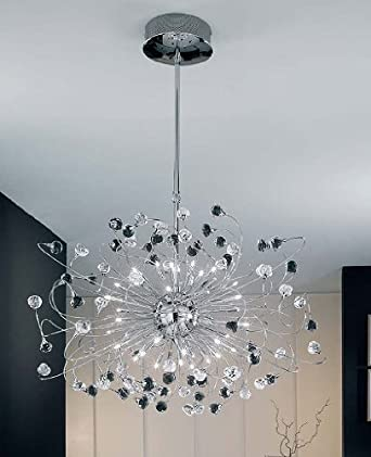 Twister Rosy 843 Chandelier - crystal clear, rustic gold, 220 - 240V (for use in Australia, Europe, Hong Kong etc.)