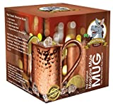Authentic Copper Moscow Mule Mug -16oz - Enjoy An Ice Cold, Superior Tasting Drink - 100% Pure Copper Mugs - Relax & Refresh The Traditional Way - Hammered Copper Mugs - 90-DAY Money Back Guarantee