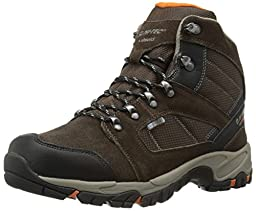 Hi-Tec Men\'s Borah Peak I WP Hiking Boot, Dark Chocolate/Burnt Orange,11 M US