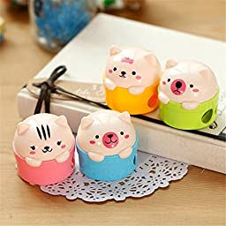8 pcs/lot Cute Double Blade mechanical pencil sharpener Knife machine for kids kawaii stationary office school supplies
