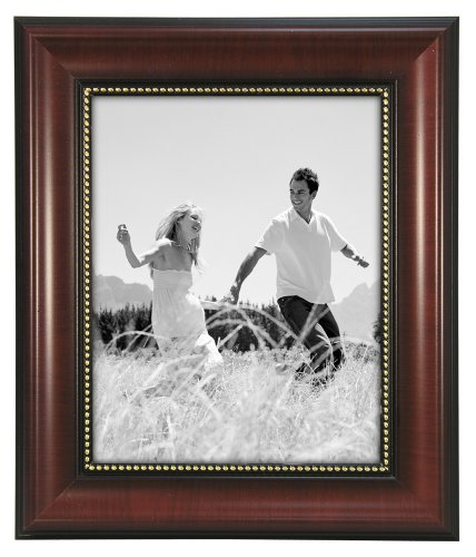 Gold 5x7 Malden International Designs Classic Gold Metal With Silver Beads 2-Tone Picture Frame