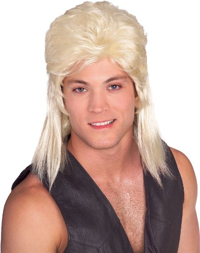 Rubie's Costume Humor Blond Mullet Shoulder Length Wig, Blonde, One Size - 1