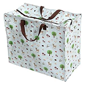 Woodland Animals Design Recycled Jumbo Laundry Storage Bag