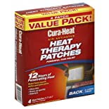 Cura-Heat Heat Therapy Patches, Air-Activated, Back & Large Areas, Value Pack 4 patches