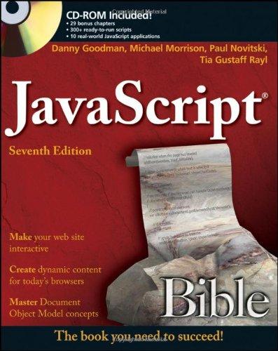 JavaScript Bible 0470526912 pdf