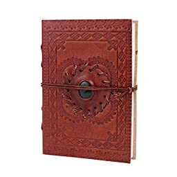 Leather Diary Blank Journal (6\