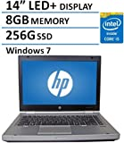 """2016 HP 14"""" Elitebook 8470P Laptop PC with Intel Core i5-3320M Processor, 8GB Memory, 256GB SSD and Windows 7 Professional (Certified Refurbished)"""