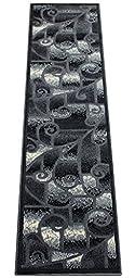 Modern Grey Area Rug Runner (2 Feet X 7 Feet)