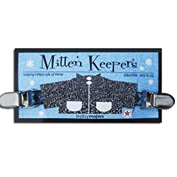 Mitten Keepers - Best Childrens One-piece Mitten Clip (Blue)