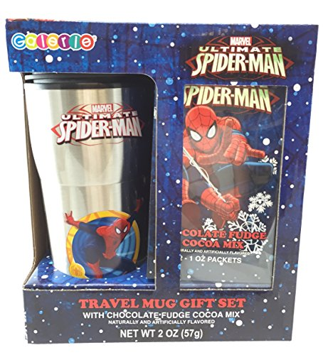 Spiderman Gift Set - Travel Mug and Chocolate Fudge Cocoa (Sugar Free Cocoa Keurig compare prices)